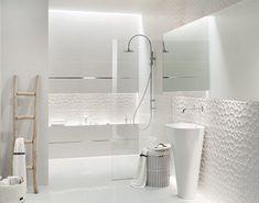 White tile bathroom design ideas gorgeous bathroom white tile design ideas and white bathroom design ideas . Grey Bathrooms Designs, Small White Bathrooms, Gray And White Bathroom, White Vanity Bathroom, Bathroom Tile Designs, Modern Bathroom Tile, Diy Bathroom Decor, Bathroom Interior, Bathroom Ideas