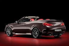 Infiniti Luxury Brown Sport Car Picture Back View