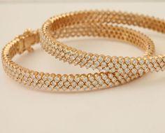 Diamond bracelets, Check out our collection at Kruckemeyer and Cohn Call: 812 - Gold Bangles Design, Gold Jewellery Design, Gold Jewelry, Silver Bracelets, Jewelry Designer, Handmade Jewellery, India Jewelry, Diamond Bangle, Schmuck Design