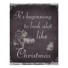 Chalkboard Christmas Quote Poster