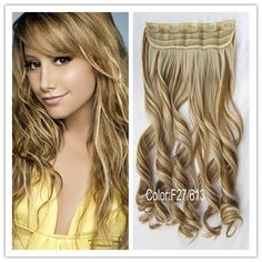 Mezcle color de las extensiones F27/613# del pelo del pelo rizado de Brown del color el buen, carga libre