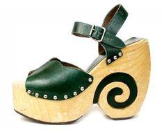 1970s platform shoes.