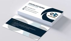 Design brilliant finish business cards for your business logo design flat business card with 2 mockups reheart Images