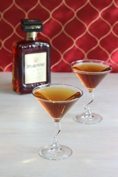The Nilla Wafer Martini tastes just like its namesake, with vanilla vodka and amaretto. Get this drink recipe at http://mixthatdrink.com/nilla-wafer-martini/