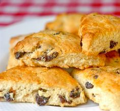 Cherry Coconut Scones - these scones are a light and delicious brunch idea with a wonderful combination of dried cherries and coconut baked right in. Scrumptious!