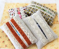 tissue covers with lace