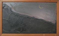 William Congdon. Moon 1977. Oil on panel. From the private collection in Hotel Cristallo in Rimini. www.hotelcristallorimini.com