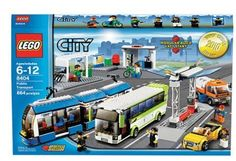 LEGO City Set Public Transport, A LEGO® fan choice, this transport station is packed with details and vehicles. Get out of town your way on 3 different platforms for 4 LEGO City vehicles. Keep the roads cl. Legos, Lego Hospital, Lego Boxes, Lego City Sets, Lego City Police, Lego Trains, Lego Worlds, Lego Design, Lego City