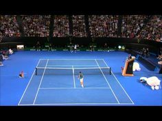 Federer v Tsonga Amazing Match Point - YouTube