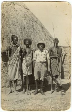 Polish Explorer Kazimierz Nowak during an expedition to Africa.