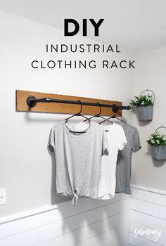 DIY Wand Kleiderständer - Home - diy-craft Laundry Room Remodel, Laundry Room Organization, Laundry Room Design, Organizing, Laundry Closet, Laundry Room Curtains, Laundry Shelves, Laundry Room Wall Decor, Laundry Storage