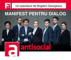 """Antisocial este produs de Teatrul Naţional """"Radu Stanca"""" Sibiu şi de Departamentul de Artă Teatrală al Universităţii """"Lucian Blaga"""" din Sibiu."""
