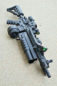 Airsoft Guns, Weapons Guns, Guns And Ammo, Zombie Weapons, Armas Wallpaper, Armas Ninja, Battle Rifle, Future Weapons, Custom Guns