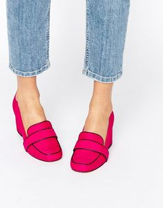 ASOS OYSTER Hot Pink Loafers