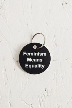 'Feminism Means Equality' feminist keytag by Black & Beech. #feminism #blackandbeech