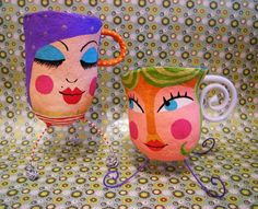 Lulu - Papel Maché by Carol W no Paper Mache Projects, Paper Mache Clay, Paper Mache Crafts, Paper Clay, Clay Crafts, Paper Art, Hand Crafts For Kids, Art For Kids, Diy And Crafts