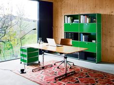 Get inspired by modern home office design ideas. Find inspiration to create your dream office at home from USM Modular Furniture. Mesa Home Office, Cozy Home Office, Home Office Table, Home Office Desks, Home Office Furniture, Small Office Design, Office Interior Design, Contemporary Home Offices, Contemporary Architecture