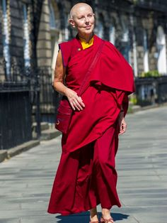 Former sixties model, and ex-girlfriend of George Best Ani Rinchen Khandro who is now a Buddhist Nun and runs the Kagyu Samye Dzong Meditation Centre in Edinburg