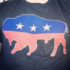 American Bison | The Wild America Collection www.stately.store #statelyshirtco #wildamerica #bison