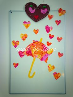 Rain of hearts.  Decoration/ craft for weddings, Mother's day or Father's day or any celebration.