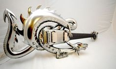 Dragon guitar -- So I'm not much into guitars... but this seems kinda awesome.... :)