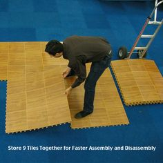 Affordable portable dance flooring panels for fast assembly and easy storage. Use portable dance floor tiles for events, banquets and hotel temporary surface installations.