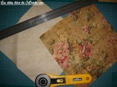 JeBrode.com: Une petite bourse vide-poche en origami Pochette Portable Couture, Outdoor Blanket, Point, Quilts, Crochet, Blog, Vanity, Molde, Fabric Basket Tutorial