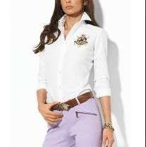 Camisa Polo Ralph Lauren Manga Longa Camisa Feminina 4c8510fc960