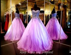 Strapless Pink Ball Gown | Beautiful, Pink ball gowns and Prom dresses