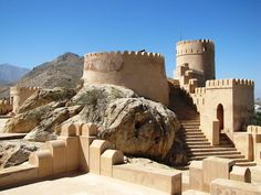 Oman | Nakhal Fort. view on Fb https://www.facebook.com/OmanPocketGuide  credit: fchmksfkcb #oman