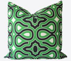 Decorative Designer HGTV  Emerald Green Pillow Cover,  Geometric, Throw Pillow