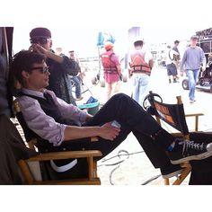 "Matthew on the set of ""Criminal Minds"""