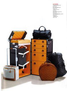 Goyard custom trunk.... via Goyard & feat in Vogue Japan March 2013