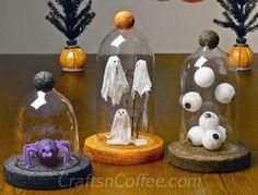 Halloween Cloche - ghosts - eyeballs and spider