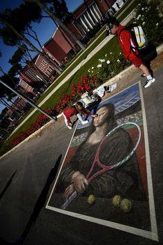 Mona Lisa tennis.  Australian Open Tennis 2013 - ausopen  #tennis  #ausopen