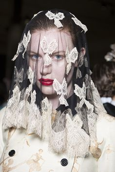 Check Meadham Kirchhoff AW13 backstage snaps as seen in the Topshop Showspace as part of the NEWGEN sponsorship scheme.