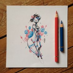 Happy new year everyone!As a side project, this year i will post a square drawing everyday you like it and may the force be with you (and me) :p Character Illustration, Illustration Art, Square Drawing, Psy Art, Illustrations, Traditional Art, Unique Art, Cool Sketches, Art Inspo