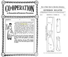 """""""One piece"""" apron pattern  Left is an advert from Co-Operation March 1913, Right is a pattern from State of Rhode Island Bulletin October 1914. Search googlebooks for the full instructions. HINT no seam allowance was given!"""