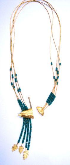 Emerald Grape Leaf Necklace
