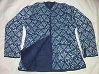 INDIAN COTTON QUILTED WINTER JACKET COAT REVERSIBLE INDIGO BLUE ALL SIZE M L XL.