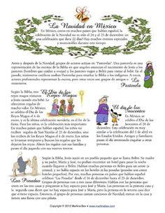 Reading: Navidad en México - en español w/ comprehension questions - Martina Bex