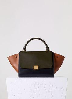 Small Trapeze Handbag in Calfskin Satin - Fall   Winter Collection 2015  dd4a451ec6f58