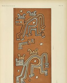 "Ancient Peruvian art: contributions to the archaeology of the empire of the Incas: [volume 4] / from his collections, by Arthur Baessler tr. by A.H. Keane, 1902. Rare Books in the Thomas J. Watson Library. The Metropolitan Museum of Art, New York. The Robert Goldwater Library (b13055835) | ""The places occupied by the snakes' heads are taken by ornaments which, judging from Plate 139, must certainly represent a head-decoration."" #Incan"