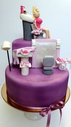 Beauty Salon Cake Cosmetology Hairdresser Diva Cakes Fancy Cute