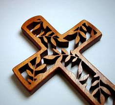 Wooden cross.