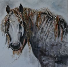 Another of my latest Equine Paintings.  Had a lot of fun with all the texture in the maine! 20 x 20 in. oil on canvas. www.barbbrownsart.com Etsy Shop:  BarbBrownsFineArt
