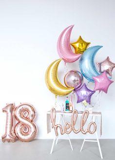 BALLOONFANTASY Silvester 2018 Dekoration #newyearseve #newyears #happynewyear #ballon #balloon #inspiration #decoration #party #event #gold #rosegold #pastell #moon #stars #mond #sterne