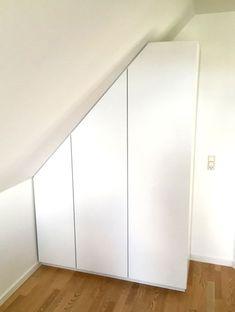 Attic Bedrooms, Bedroom Loft, Bedroom Wardrobe, Walk In Closet, Built Ins, My Room, Small Spaces, Ikea, Room Decor