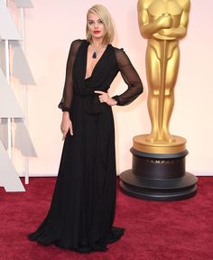 Margot Robbie in Saint Laurent at the 87th annual Academy Awards in Hollywood, California, February 2015.