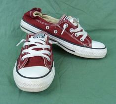 7d7a1e20aba Converse All Star Adult Sz 7 All Star Red Sneakers Canvas Low Top Chuck  Taylor
